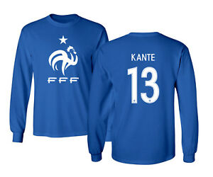 uk availability ac4fb 9cde6 Details about France 2018 Soccer #13 N'Golo KANTE World Cup Men's Long  Sleeve T-Shirt