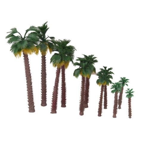 6-20cm Mini Kunststoff Palmen Modellbaum Modellbäume Modell Baum Pflanzen