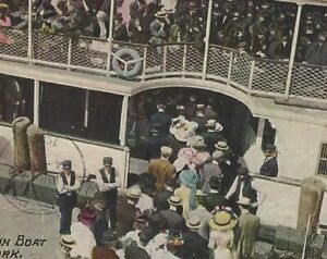 Coney-Island-Manhattan-NY-Iron-Steamboat-Cetus-Dock-Crowd-Postcard-c1910