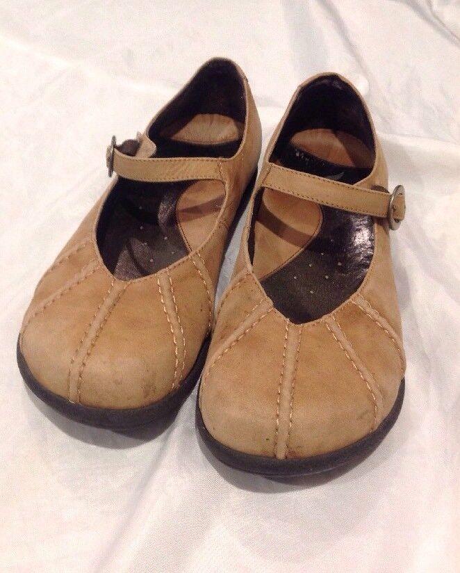 Dansko Women Mary Janes Flats Size 9M Beige Leather Buckle