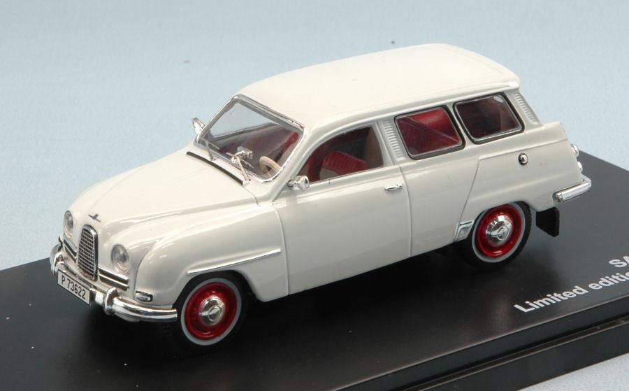 Saab 95 1961 Weiß 1 43 Model TRIPLE 9  | Sale Outlet