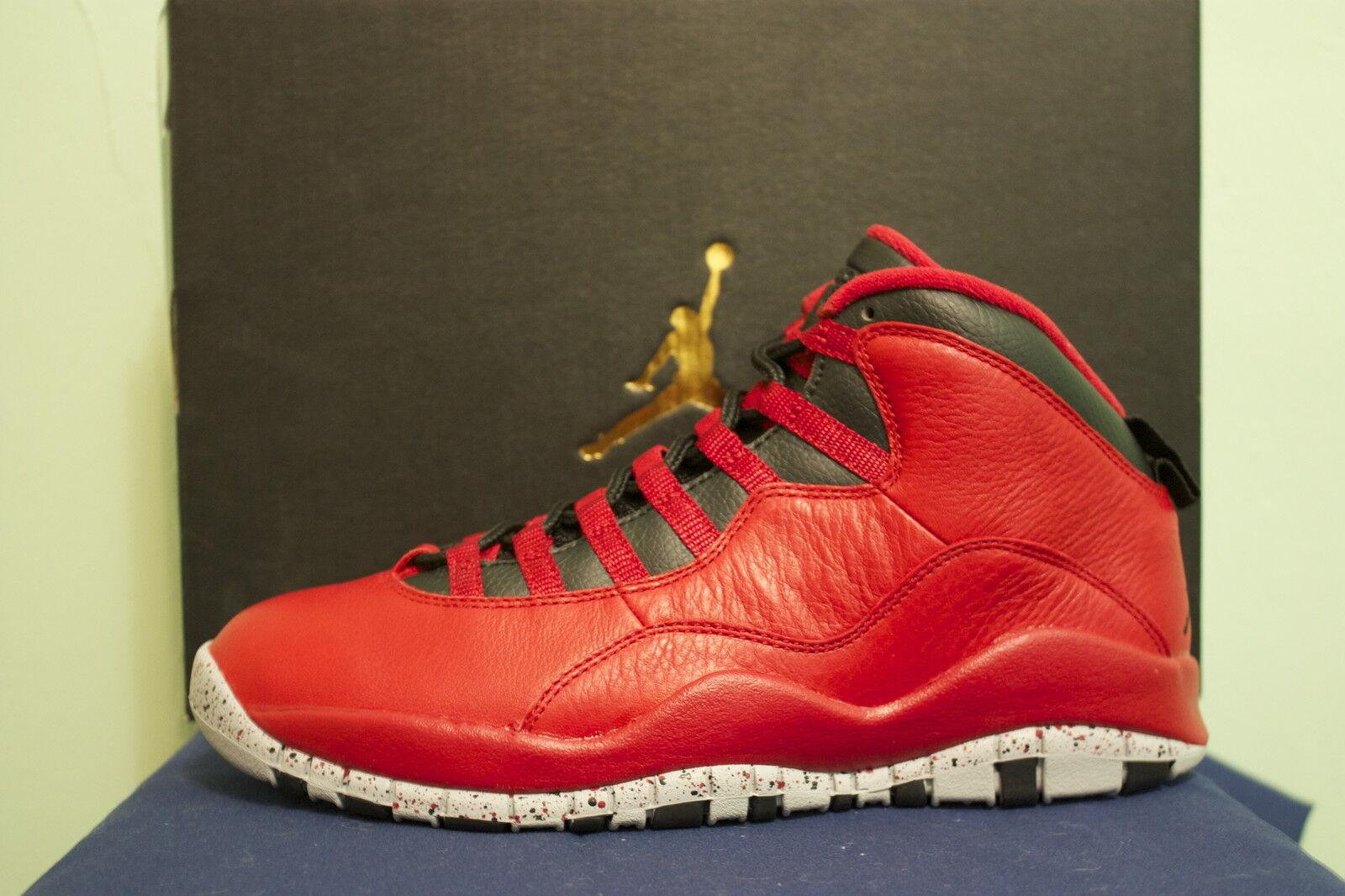 Nike Air Jordan Broadway 10 x toros sobre Broadway Jordan Rojo temporada retro cómodo despacho venta be5d10