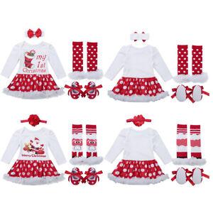 22022591a85f Newborn Infant Baby Girls Merry Christmas Dress Xmas Party Tutu ...