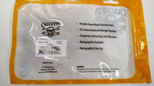 "NEW Calcutta Flashfoil Swim Shad Electric Chicken 1//8 2/"" length 7 pack"