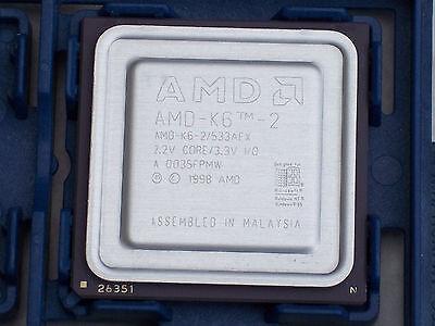 AMD K6-2 533 Mhz AFX SOCKET 7 CPU@FULLY TESTED@FULL WORKING ORDER@SUPER SOCKET 7