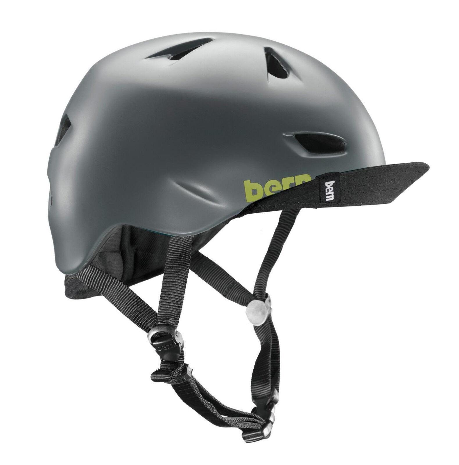 Bern brentwood satindarkgris flip visor casco  de bicicleta, Acción Sport casco S-M  calidad garantizada