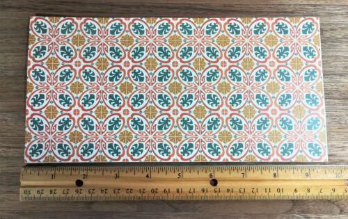 Dollhouse Miniature Victorian Tile Flooring Sheet Art Nouveau 1:12 Scale