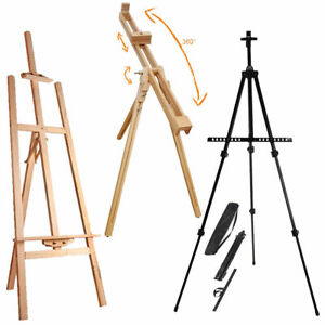 Artist-Art-amp-Craft-Display-Studio-Easel-Pine-Wood-Wooden-Metal-Painting-Easels