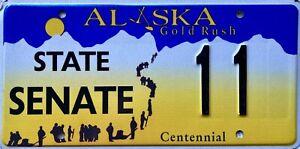 Alaska Gold Rush Centennial American State Senate License Number Plate 11