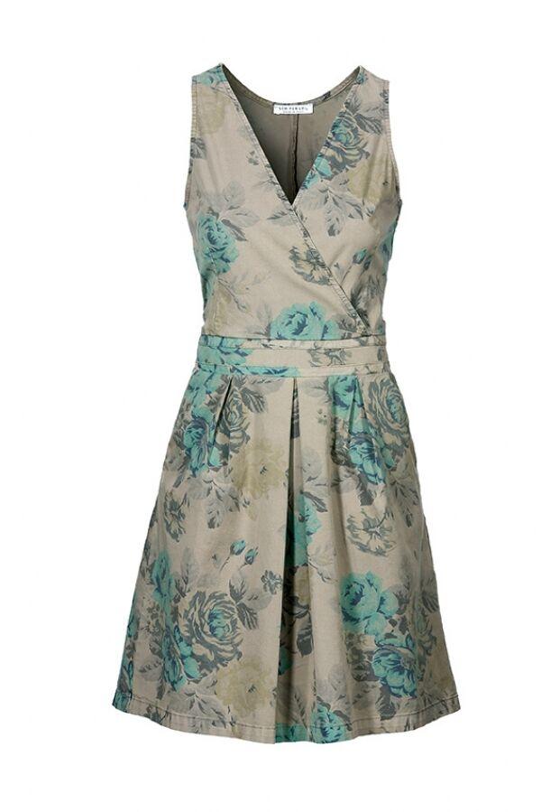Kleid Flowerprint auf Cotton Marke  sem per lei Größe 38