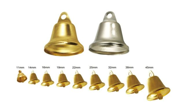 Lead Free Christmas Shining Liberty Bells Pendants Charms Gold/Silver Multi-Size