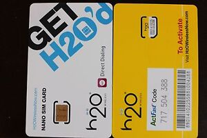h2o wireless iphone 2 x h2o wireless oem nano sim card iphone5 unlimited talk 5701