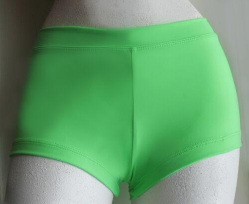 Girl/'s Capezio Green Boycut Low Rise Booty Shorts Size S #TB113