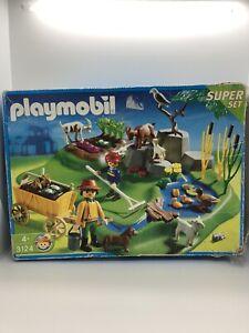 Playmobil-3124-Super-Set-Granja-Corral-En-Caja-Incompleta-Klicky-del-Nino-Ninos-Juguetes