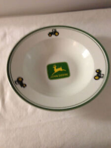 John Deere Gibson 9 inch Salad Pasta Bowl Green Tractor Rimmed replacement