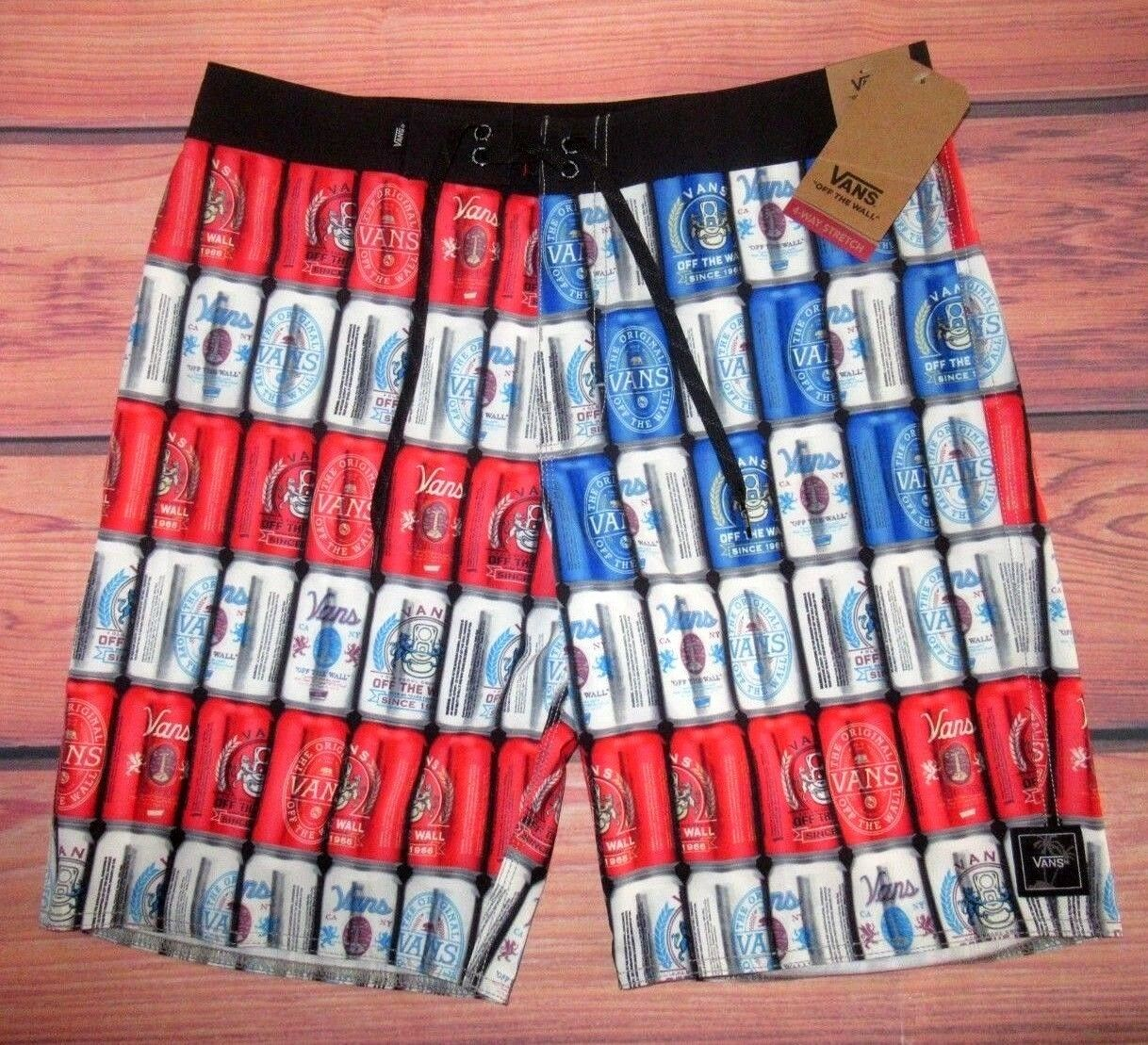 2a852f0d6d MENS VANS OFF THE WALL AMERI CAN SHORTS SIZE 38 BOARD SWIM ...