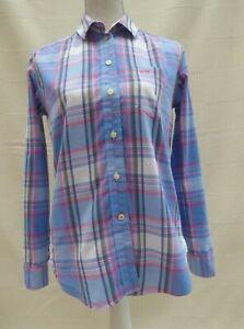 Jack-Wills-039-Boyfriend-Fit-039-button-through-long-sleeve-top-shirt-Size-8