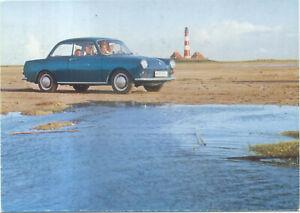VW-Volkswagen-Type-Three-Saloon-Original-Period-Postcard-157-156-00