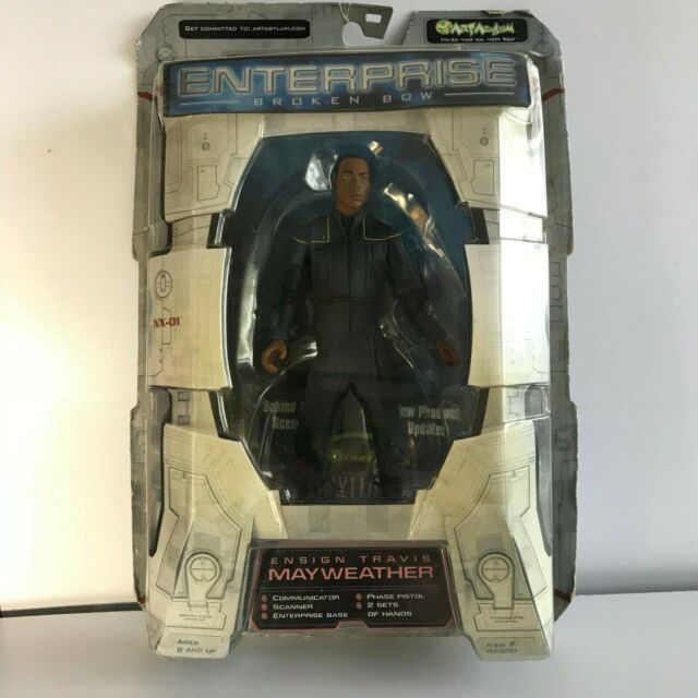 Star Trek ENTERPRISE Art Asylum ENSIGN TRAVIS MAYWEATHER Action Figure