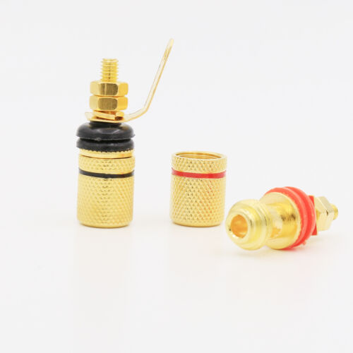 20 PCS Gold Plated binding post amplifier speaker audio connector