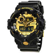 Casio G-Shock Gold-Tone Dial Black Resin Men's Watch GA-710GB-1ACR