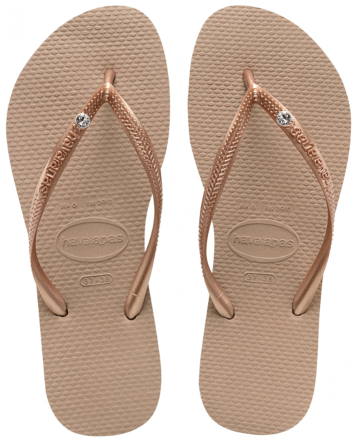 2aa6169f9e5a13 Womens Havaianas Slim Flip Flops Rose Gold Sandals UK 6 - 7 for sale ...