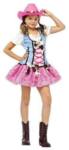 Fun World Rodeo Sweetie Girls Pink Cowgirl Costume Child Large 12-14