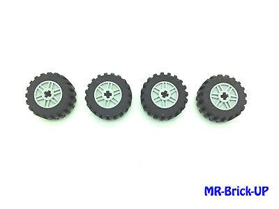 Lego® 4 Technic Reifen 30,4 x 14 VR Felge grau Technik Auto 30,4x14 Räder L127
