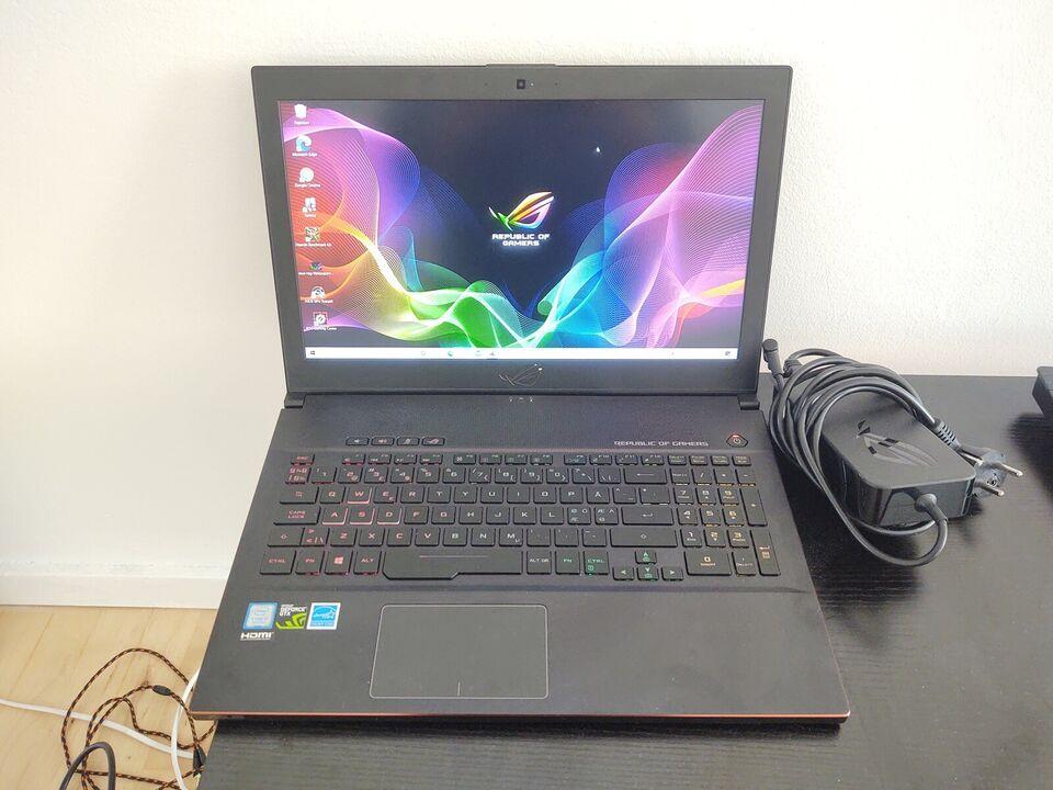 Asus Rog Zephyrus 144Hz, 1070 8GB, Intel Core i7-8750H GHz
