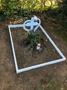Grabeinfassung Einfassung weiss Urnengrab Bord Grabstein Umrandung 3cm stark NEU