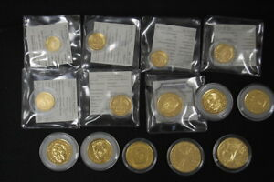 Frg 14 Coins 1Pf. To 2 x 10 DM Gold Plated With 24 Carat And Some Certificate