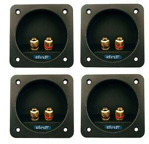 Block Obcon Speaker Sub Woofer Box Enclosure Pro Rectangle Screw Terminal Cup