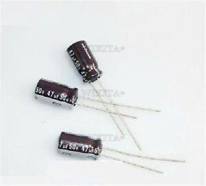 10Pcs-Electrolytic-Capacitor-47Uf-50V-105C-New-Ic-wc