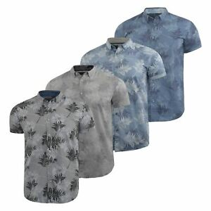 Mens-Floral-Shirt-Audley-Short-Sleeved-Cotton-Blend-Casual-Top