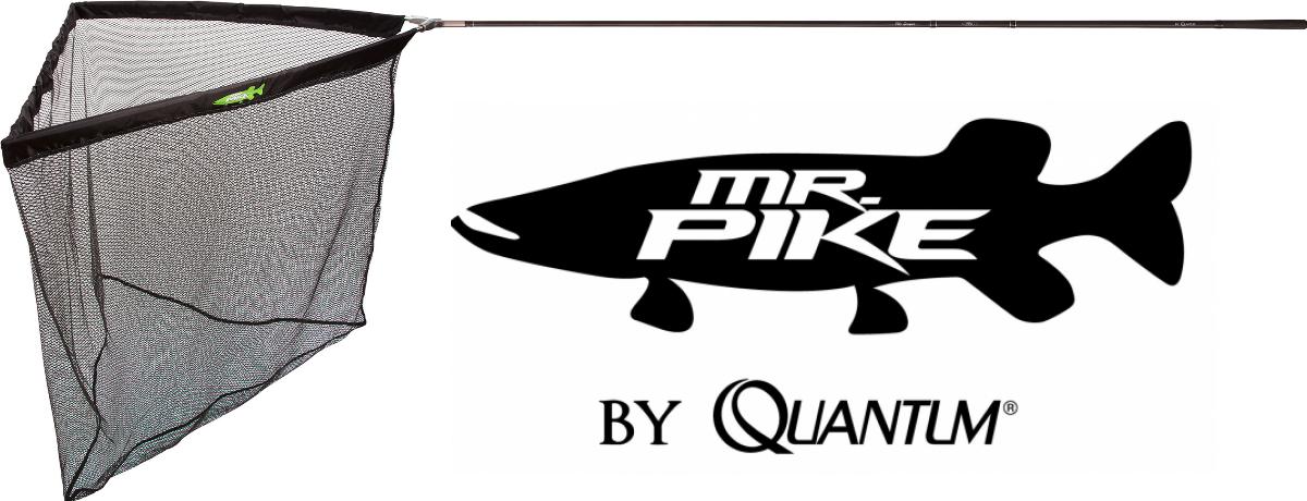 Quantum Mr. Pike Pike Scooper Raubfisch-Kescher gummiertes Netz