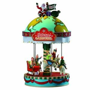 Lemax Santa's Christmas Village 2019 YULETIDE CAROUSEL #94525 Sights & Sounds *