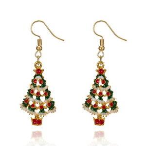 Novelty-Flashing-Xmas-Earrings-Christmas-Dangle-Drop-Santa-Tree-Women-Ear-stud