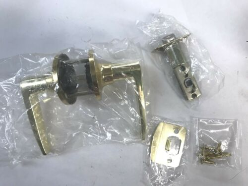 NEW Shield polish brass passage lever 2 way latch
