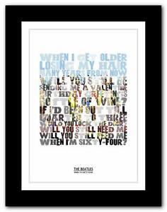 THE-BEATLES-When-Im-Sixty-Four-song-lyrics-typography-poster-art-prints