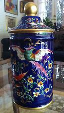 Magnifique  Pot cylindrique en porcelaine Le Tallec daté 1956
