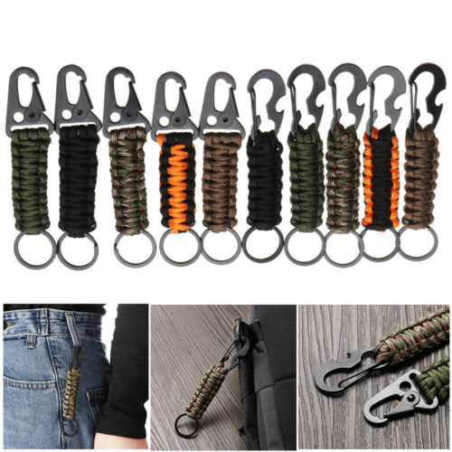 Knot Camping Survival Kit Bottle Opener Rope Keychain Keyring Key Chain Ring