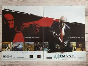 Hitman 2 Silent Assasin Pc Game 2000 Promo Ad Art Print Poster Ps2