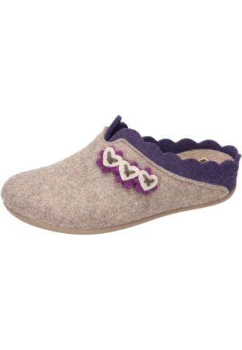 Manitu 320574 Chaussures Femmes Chaussons Pantoufles En Feutre