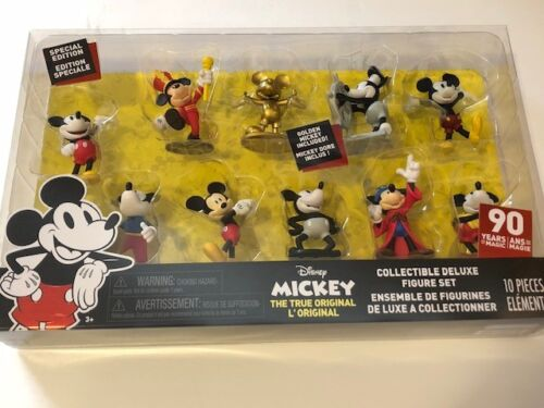 NEW Disney Mickey Mouse Special Edition Collectible Deluxe Figure Set of 10