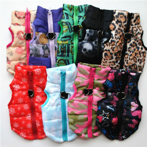 Small-Pet-Dog-Warm-Padded-Vest-Coat-Puppy-Cat-Jumper-Jacket-Outwear-Clothes-CHF
