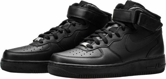 {315123-001} AIR FORCE 1 MID MENS LIFESTYLE SHOE BLACK NEW