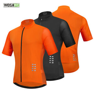 Mens-Cycling-Jersey-Short-Sleeve-Breathable-MTB-Mountain-Bike-Riding-Sports-Tops