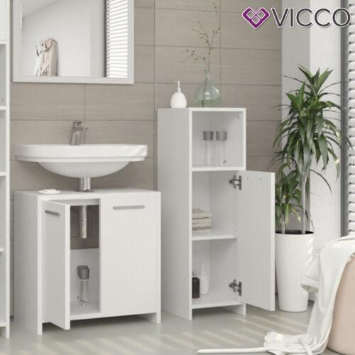 Vicco Mobiletto bagno medio Kiko Armadietto bagno Bianco