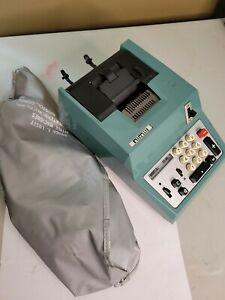OLIVETTI UNDERWOOD SUMMA PRIMA 20 VINTAGE ANALOG ADDING MACHINE WITH CASE