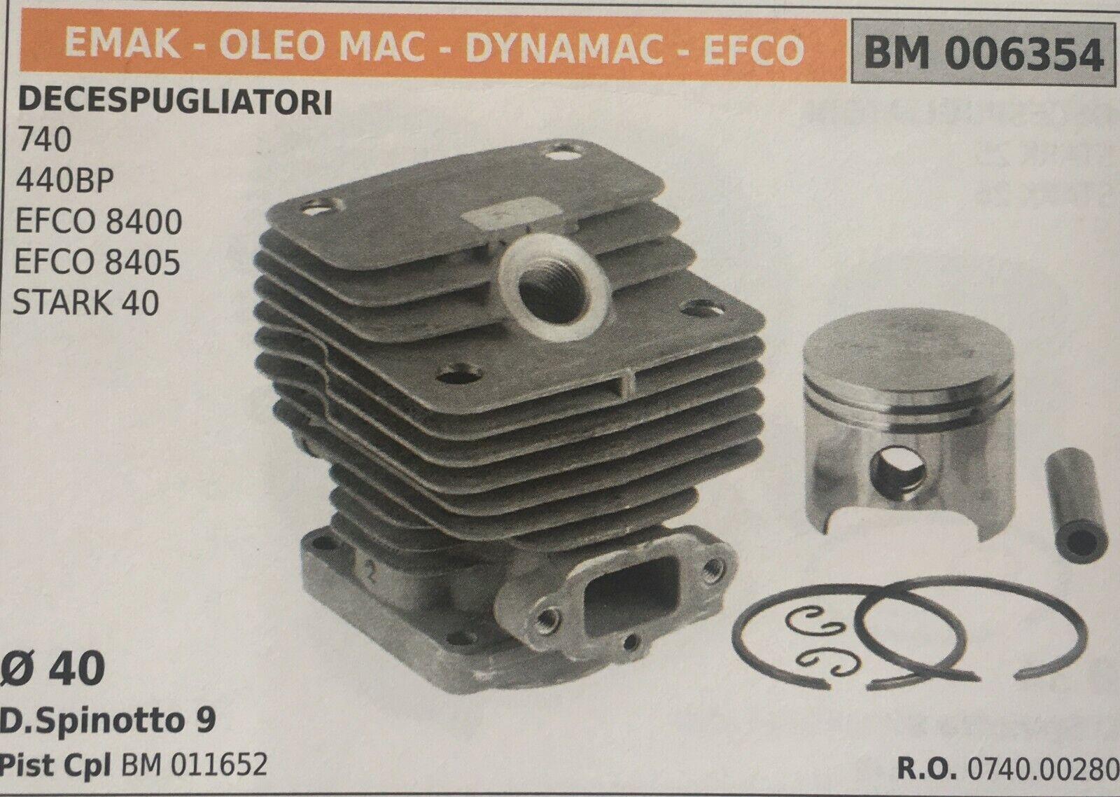 Zylinder Komplett mit Kolben und Segmente Brumar BM006354 Emak-Oleo Mac Andere